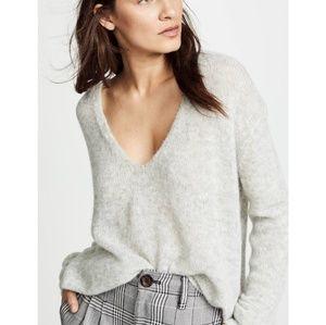 Free People v-neck gossamer sweater NWT